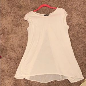 Kim +cami white shirt with sheer back size XL